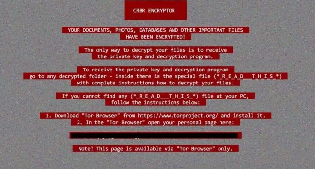 How to remove CRBR Encryptor ransomware and decrypt your files