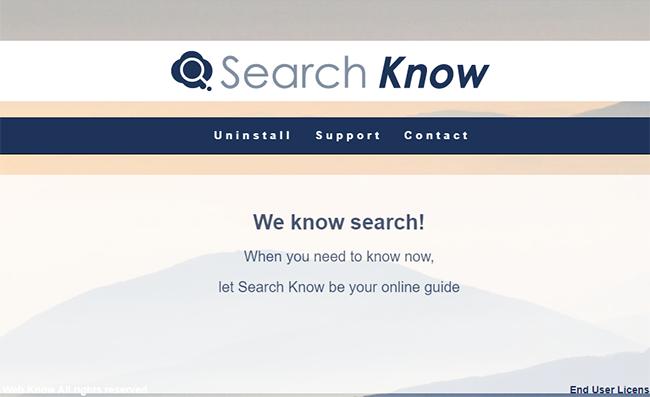 remove Searchwebknow.com hijacker