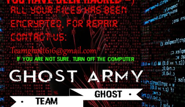 How to remove GHOST ARMY ransomware and decrypt Lock. files