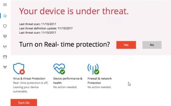 """How to remove """"Your Device is Under Threat"""" fake alarm message"""