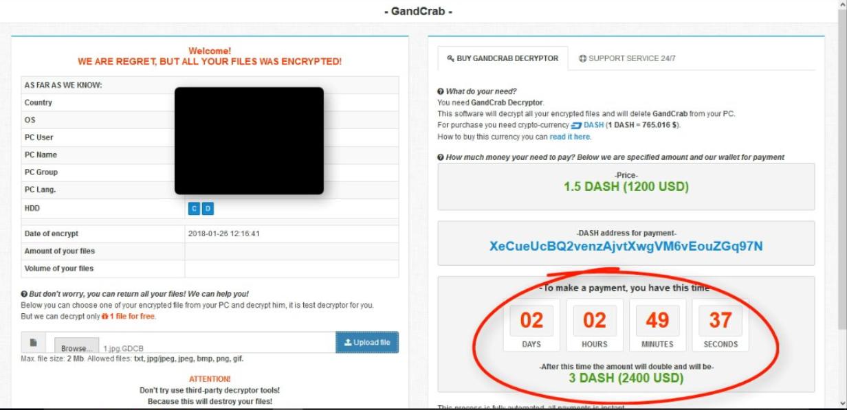 remove GANDCRAB ransomware