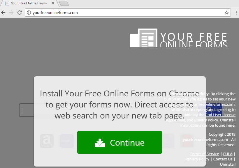 remove Your Free Online Forms hijacker