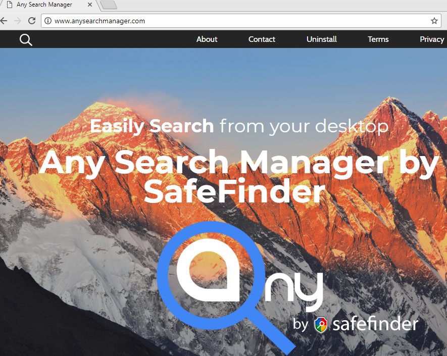 remove Any Search Manager hijacker