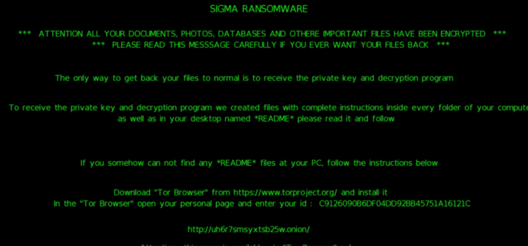 How to remove Sigma ransomware and restore files