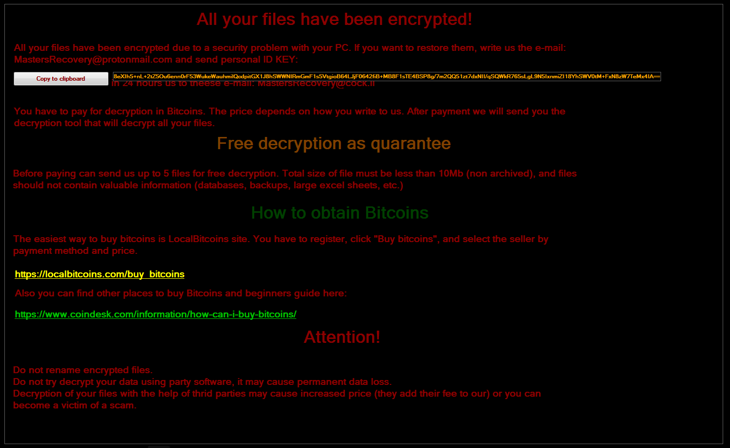decrypt .[MastersRecovery@protonmail.com].Spartacus