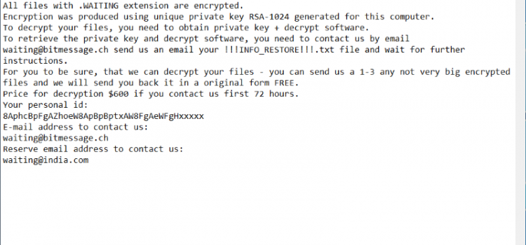 How to remove STOP Ransomware and decrypt .STOP, .SUSPENDED, .WAITING files