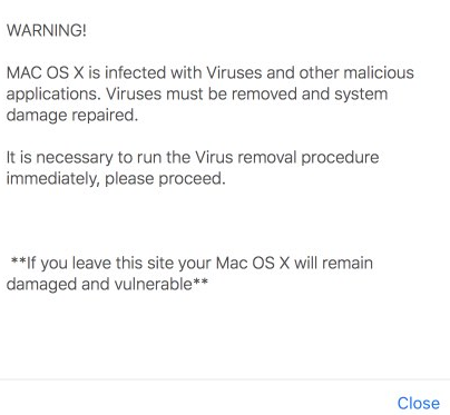 remove Safety.apple.com pop-up