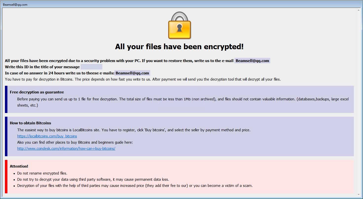remove Bip ransomware