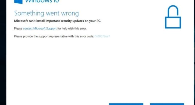 How to fix Windows Update Error 0x80072ee7