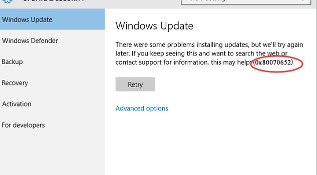How to fix Windows 10 Update Error 0x80070652