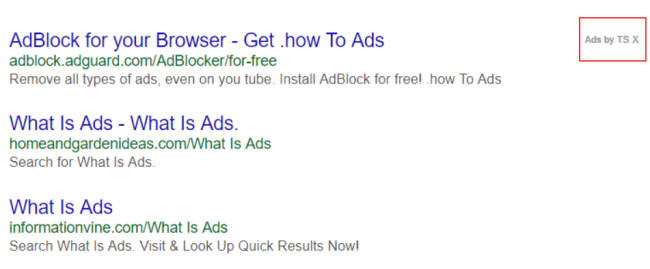 How to remove Ads by TS