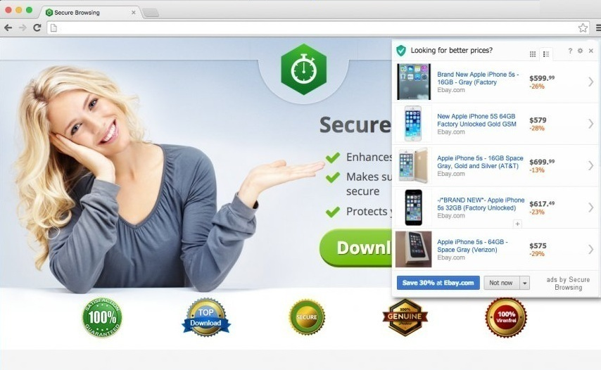 remove Ads by Secure Browsing
