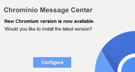 remove chrominio message center