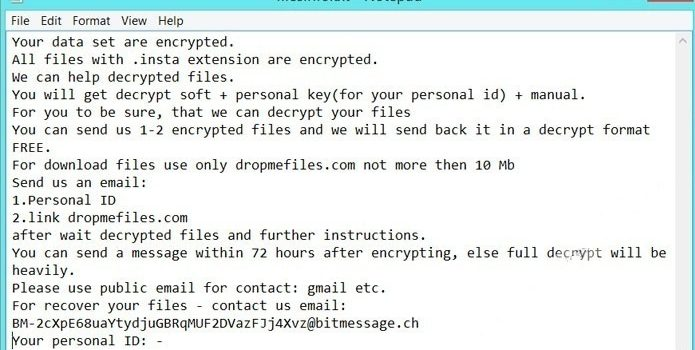 How to remove Insta ransomware and decrypt .insta files