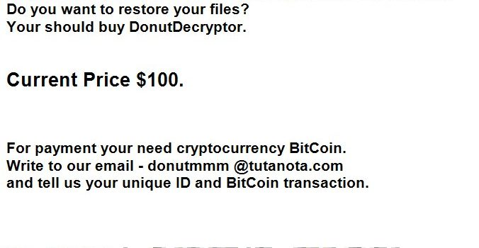 How to remove Donut Ransomware and decrypt .donut files