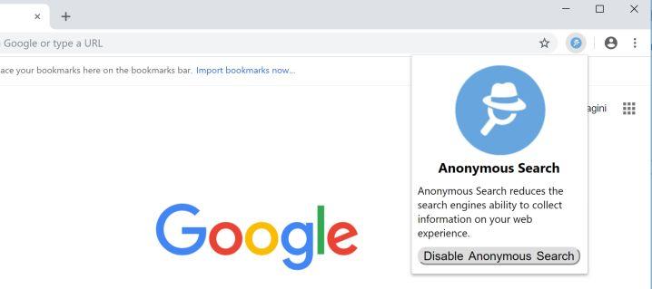 remove Anonymous Search hijacker