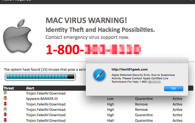 remove MAC OS Is Infected With Spyware pop-up