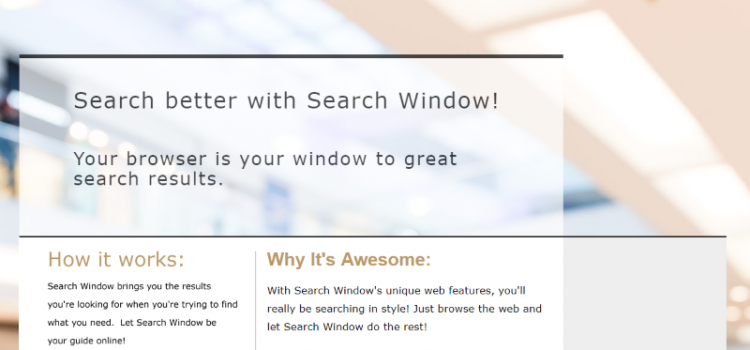 How to remove Find Search Window (Findsearchwindow.com)