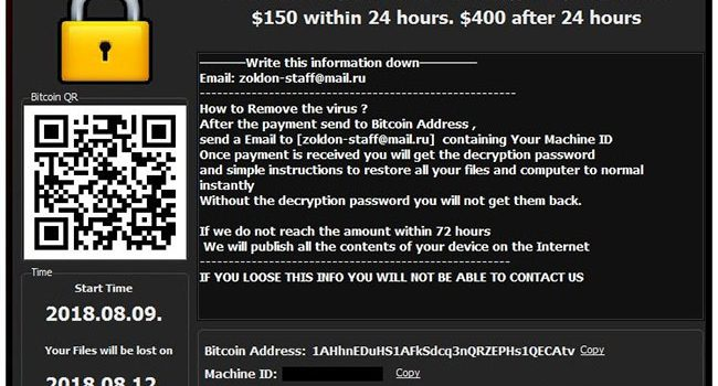 How to remove Zoldon Ransomware and decrypt your files