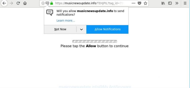 How to remove Musicnewsupdate.info