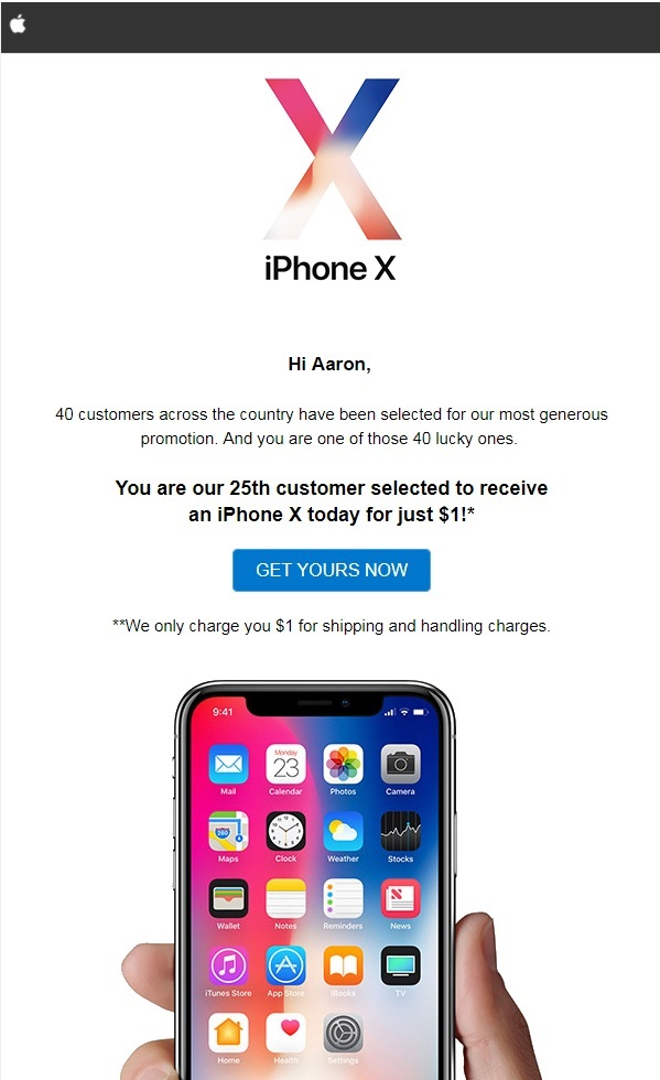 remove Get An iPhone X For $1 Pop-up