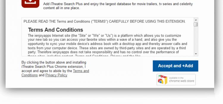 How to remove ITheatre Search Plus
