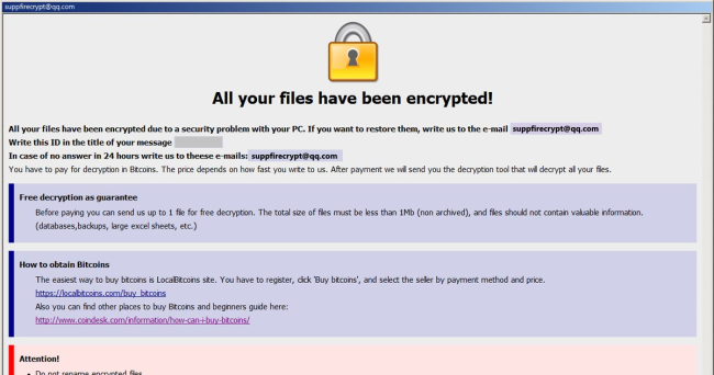 How to remove (Dharma) Fire Ransomware and decrypt .fire files
