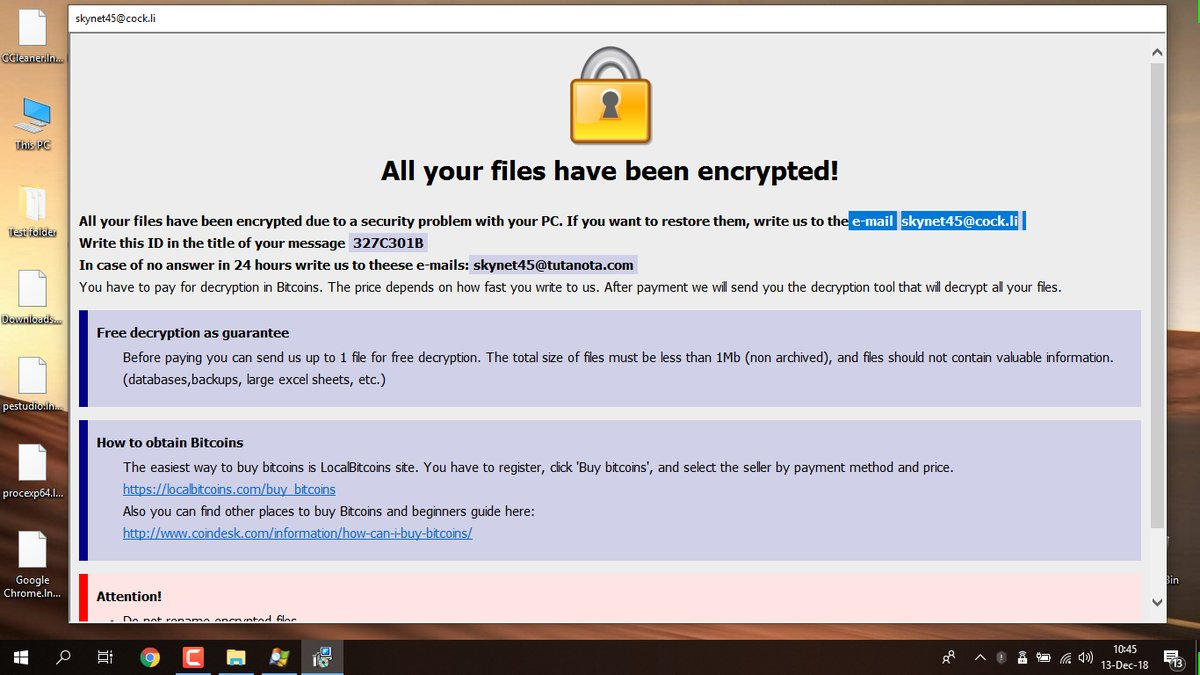 How to remove Combo ransomware and decrypt  combo files
