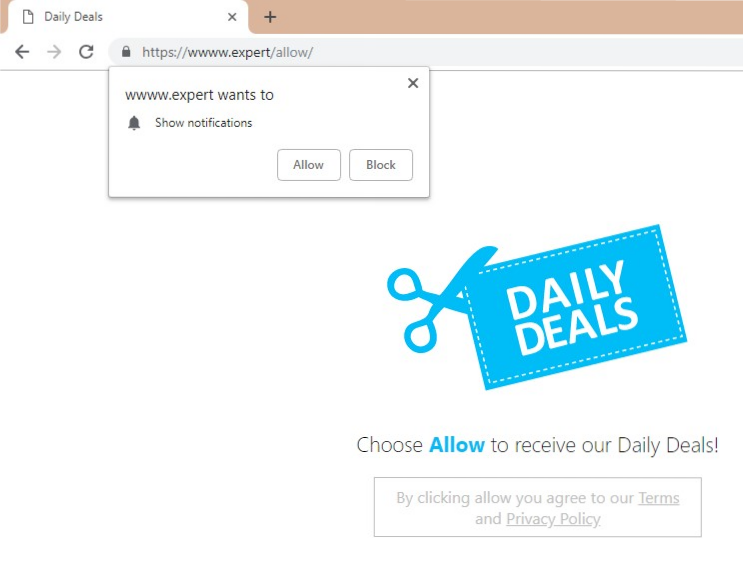 How to remove Wwww expert pop-up from browser
