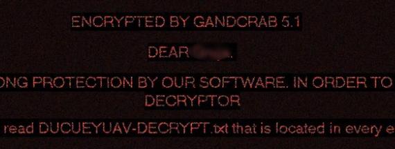 remove GANDCRAB V5.1 ransomware