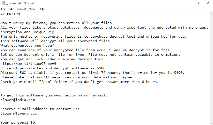 remove Blower ransomware