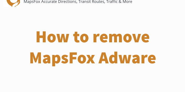 How to remove MapsFox