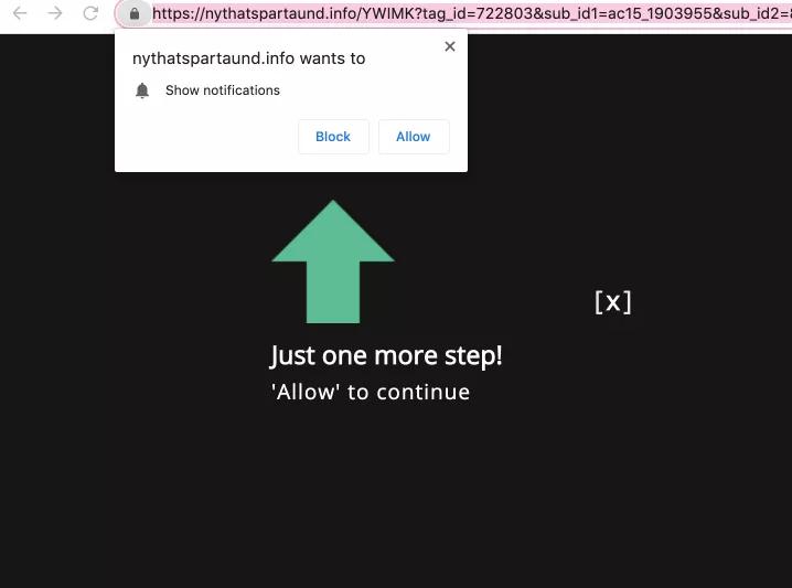 remove Nythatspartaund.info