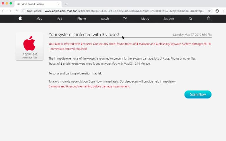 How to remove Apple com-monitor live Scam (Mac)