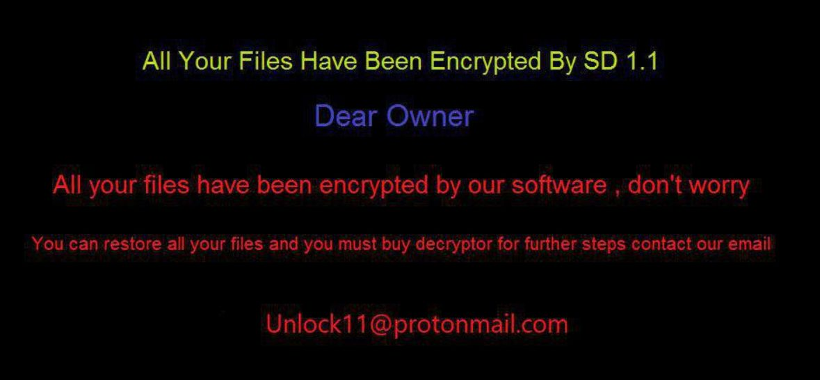 SD 1.1 Ransomware