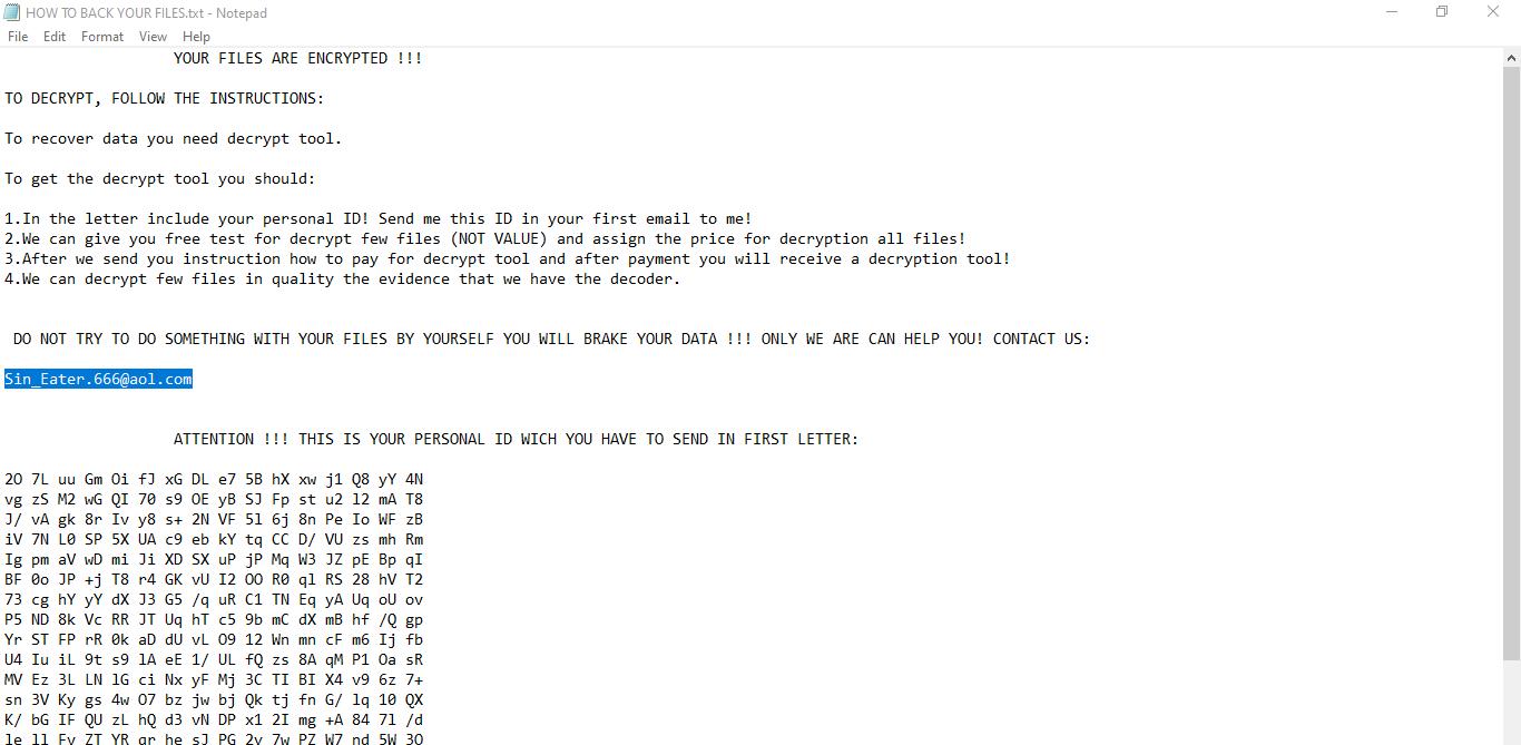 Hades666 ransomware
