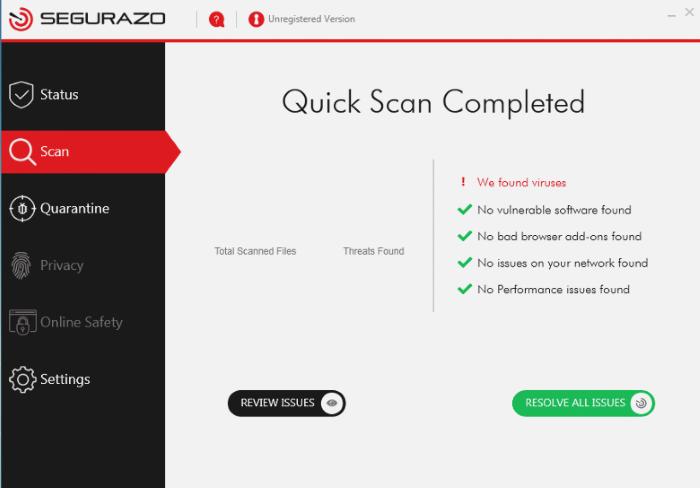 How to remove Segurazo