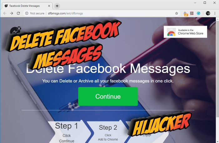How to remove Delete Facebook Messages hijacker