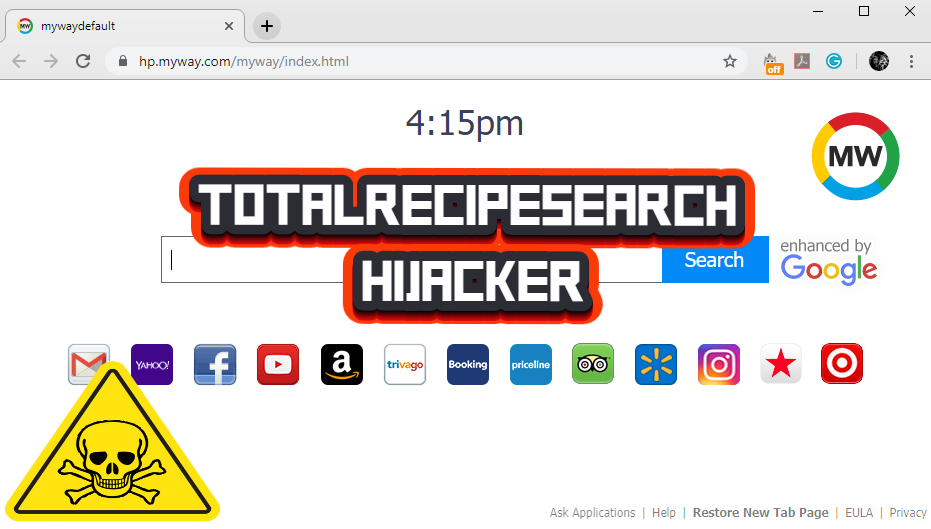How to remove TotalRecipeSearch hijacker