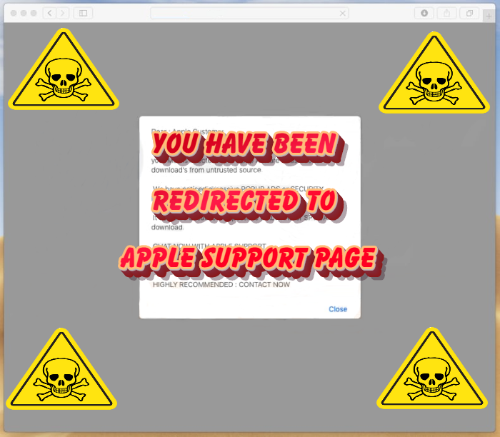 """How to remove """"You have been redirected to Apple Support page"""" PUP from Mac OS"""