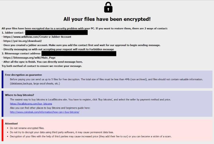 How to remove Barak virus and decrypt  [captainpilot@cock li