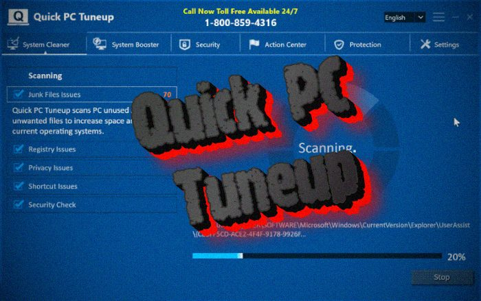 How to remove Quick PC Tuneup PUP