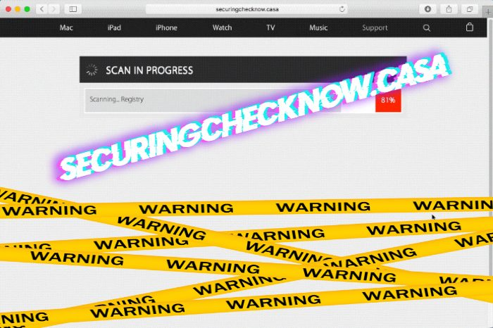 How to remove Securingchecknow.casa redirection from Mac OS