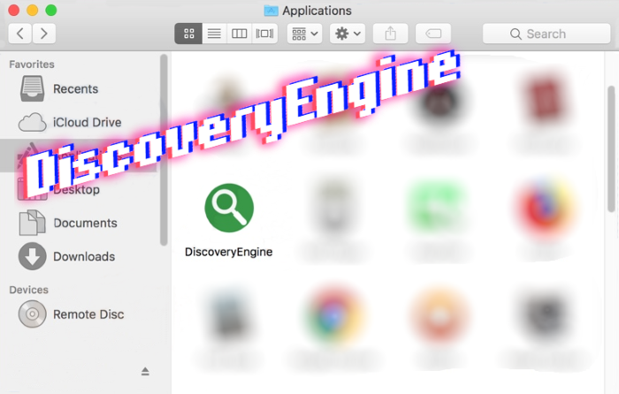 How to remove DiscoveryEngine adware from Mac