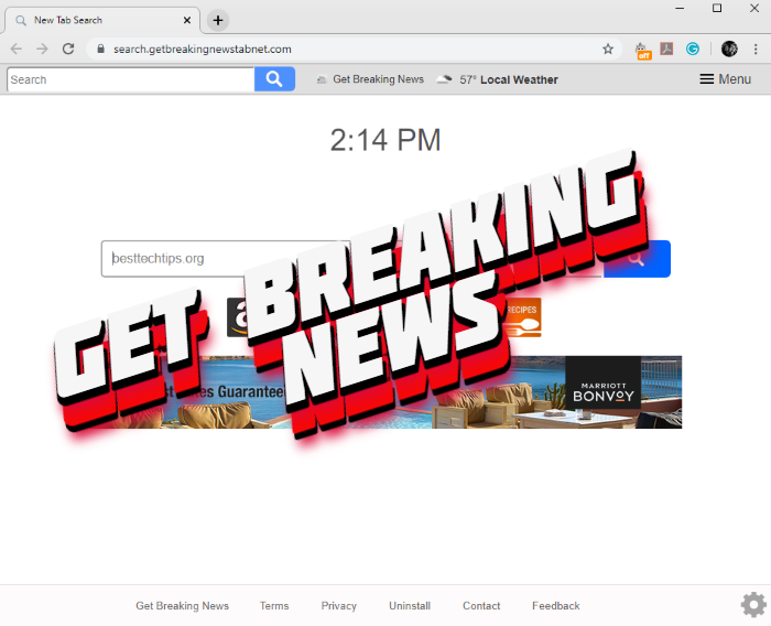 How to remove Get Breaking News hijacker