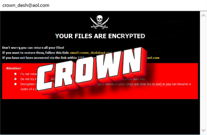 How to remove Crown ransomware and decrypt .crown files