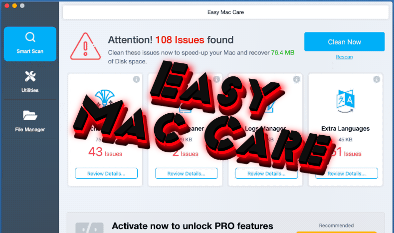 How to remove Easy Mac Care from Mac