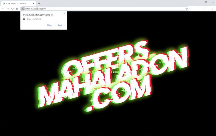 How to remove Offers.mahaladon.com pop-ups