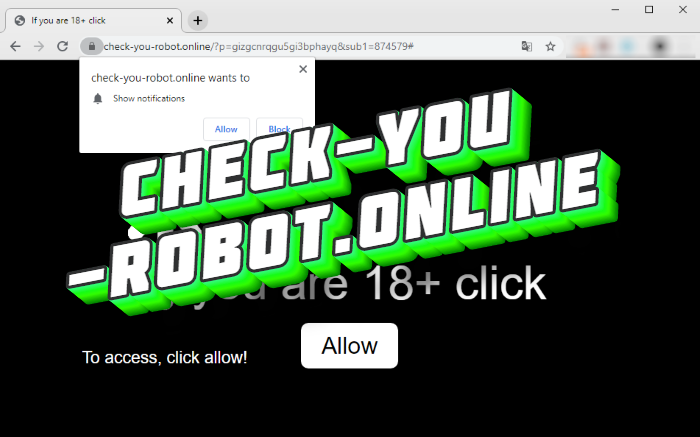 How to remove Check-you-robot.online pop-up notifications