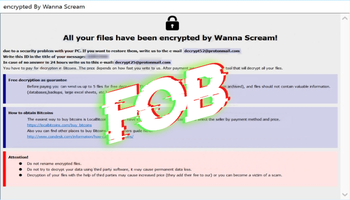 "How to remove Fob ransomware and decrypt "".Fob"" files"